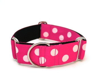 "1.5"" Lola buckle or martingale dog collar"
