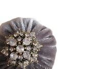 Elegant Gray Emery Pincushion
