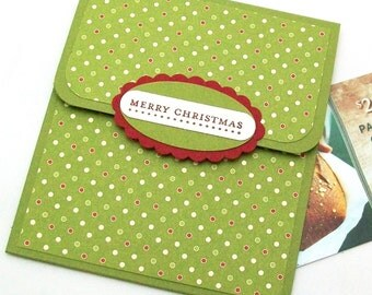 Christmas Gift Card Holder, Merry Christmas Cards, Holiday Tip Envelopes - Christmas Cash Envelope, Christmas Money Cards