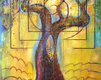 Small Print Tree Art - The Olive Tree
