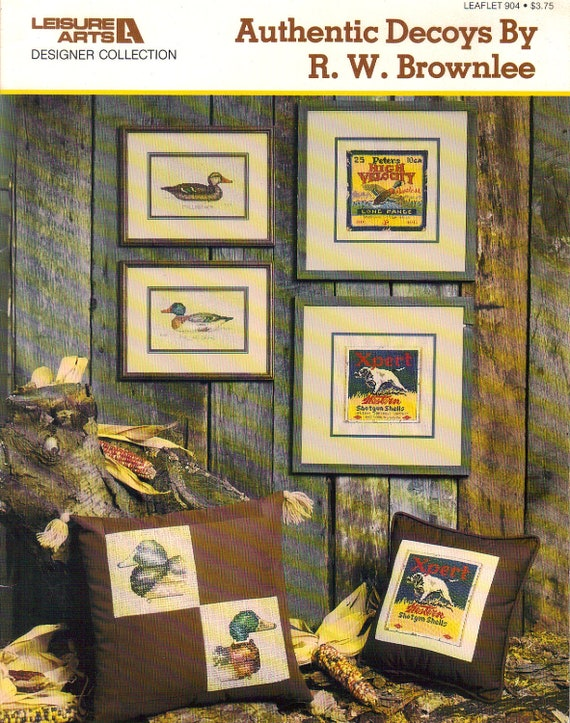 Vintage 1981 Cross Stitch Duck Decoys By Coastalcrochetcrafts