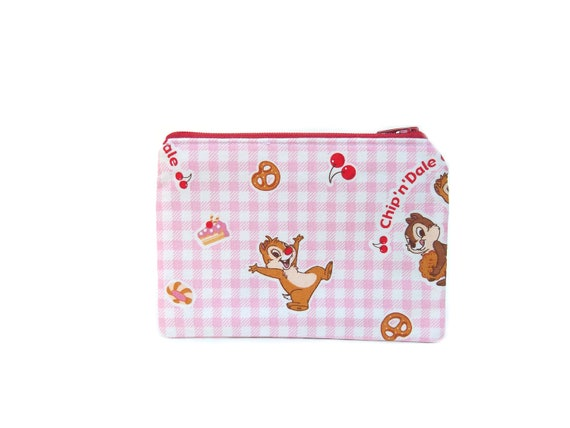 Mini Zipper Pouch with Little Chipmunks / Chip n Dale