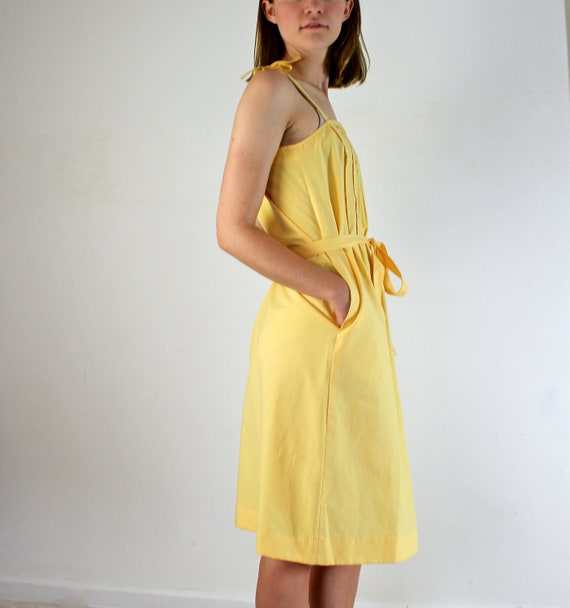 Canary Yellow Dress - Vintage Sundress