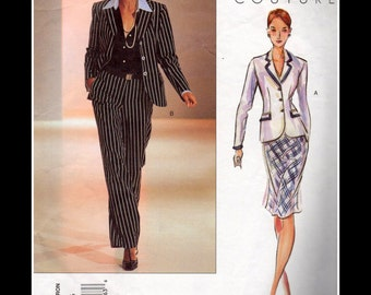 Vogue 2631 Couture Jacket Blouse Skirt and Pants Sewing Pattern Sizes 12 14 16 Uncut