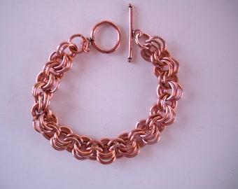 Copper chainmaille bracelet for men or women