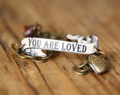 You Are Loved Bracelet - Bridesmaid Gift - Flower Girl Gift - Bridal Jewelry - Shrink Plastic - Love-Valentines Day - Girlfriend Gift - Love