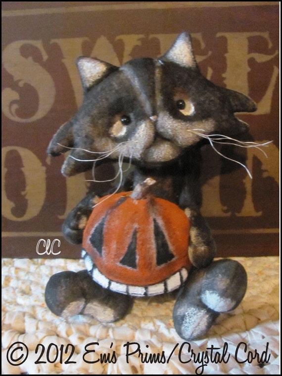 Primitive Halloween Cat Doll (Reserved for greenirisheyez)