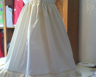 Infants Petticoat Dress with Pantaloons Natural color  Size 1 to 18 mos