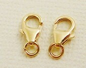 14 kt Gold Filled  Clasp, Crab Claw, 8mm x 5mm Closure, 11mm L with jump ring