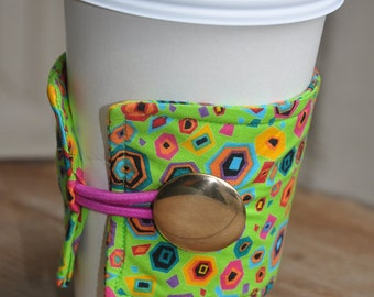 Wrap Around Coffee Sleeve - St. Jude Cotton Fabric