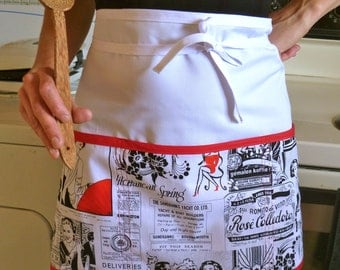Half Apron with Pockets Vendor Utility Teacher Apron One Size Sturdy Apron