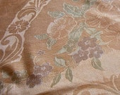 Vintage OLD BLEACH Double Damask Tablecloth  52 x 72 Pure Irish Linen