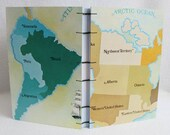 Risk Journal Recycled Game Board Book / North America / South America / Canada by PrairiePeasant