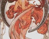 Alphonse Mucha DANCE cross stitch pattern No.453
