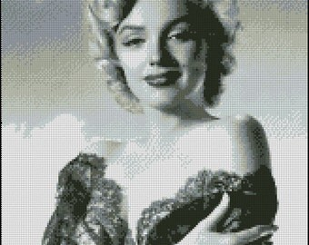 MARILYN MONROE  cross stitch pattern No.398