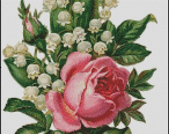 BOUQUET  cross stitch pattern No.703