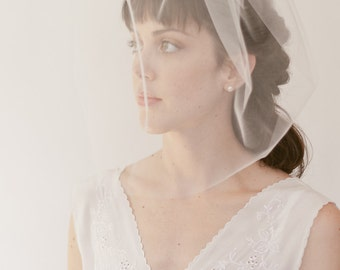 "Bridal birdcage veil,  blusher veil, wedding veil 16"" full veil, Style 821"