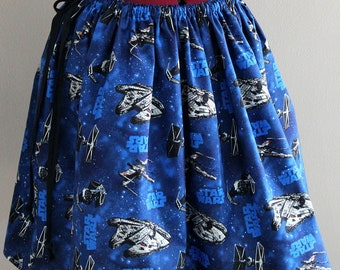 Womens Skirts, Star Wars Clothing, Novelty Skirts, Geek Clothing, Star Wars Space Ships Skirt