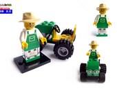 USB Drive in original Lego® Minifigure Farmer with Tractor