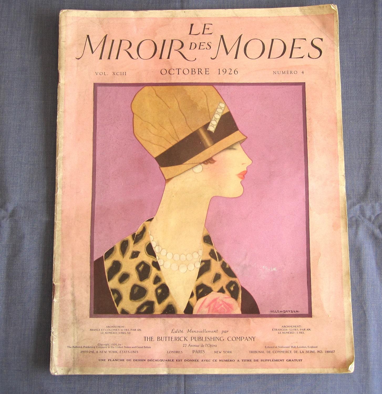 Vintage fashion sewing magazine and catalogue rare miroir des for Miroir des modes prints