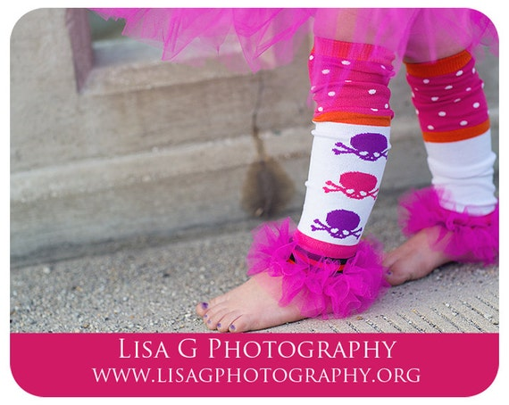 "Girls Ruffle Tutu Leg Warmers Perfect for Photo Props, Birthday, Costume, Dress up,  Fits 12m-6x approx 12"" long"