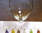 Dichroic Glass Wine Charms