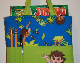 Crayon Bag, Tote Bag, Crayon Tote Bag, Crayon Holder, Diego, Ready to Ship