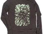 NYC Subway Shirt in Unisex Long Sleeve Brown