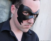 Leather costume - Crow - masquerade mask - Made to Order