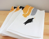 Blackbirds Baked in a Pie Tea Towel - Linen Cotton 18 x 24 inch