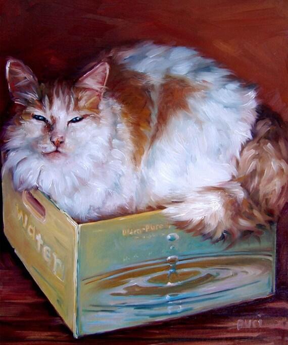"BoxBoy, CUSTOM Pet Portraits in Oils by puci, 10x12"""