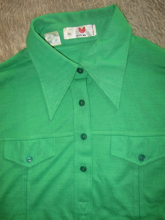 Vintage 70s lime green polo