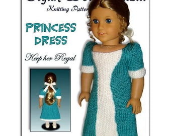 "Knitting Pattern for Doll Dress, American Girl and 18"" PDF AG. Instant Download 038"