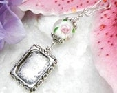 Wedding bouquet memory charm. Pink Roses.
