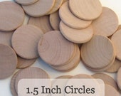 Unfinished Wooden Circles 1 1/2inch x 1/8inch, Pack of 100