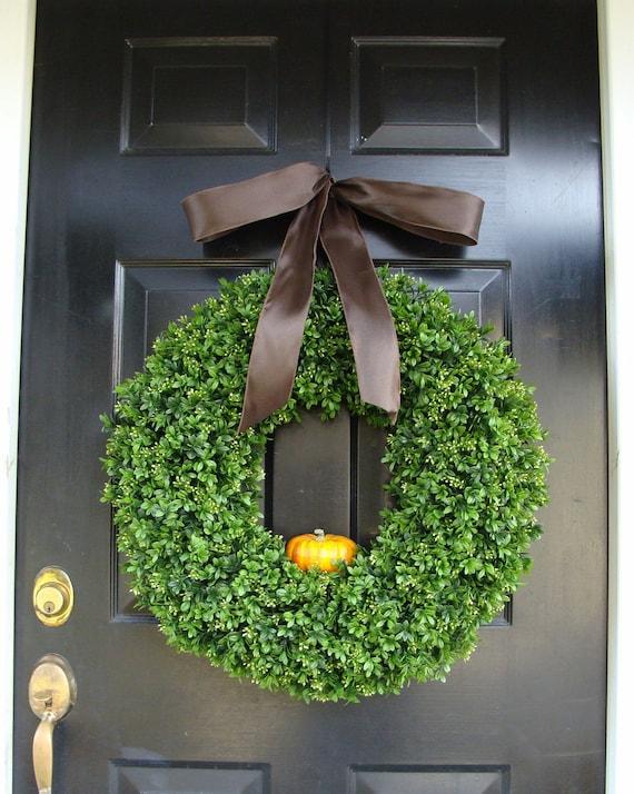 Pumpkin Fall Wreath, Fall Decor, Thanksgiving Wreath with personalized pumpkin, Fall Pumpkin Wreath, Fall Decor