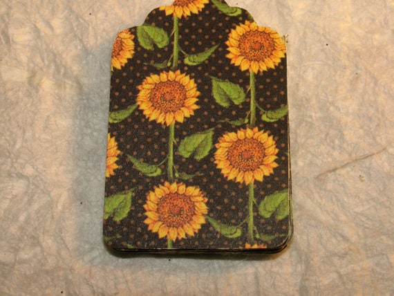 Gift Tag, Set of 20 Tags, Fall Sunflower Pattern, Fall, Halloween
