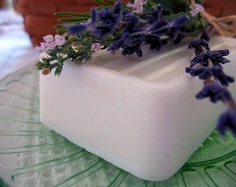 LAVENDER CASTILE SOAP, large bar lavender soap (5oz). Olive oil soap with coconut butter, palm, safflower, soy & argan oils/butters