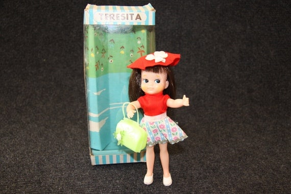 Teresita , boxed Japanese doll from the sixties