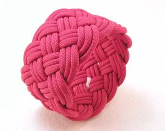 big red paracord rope bracelet armband turks head knot bracelet nautical bracelet sailor knot bracelet 3187