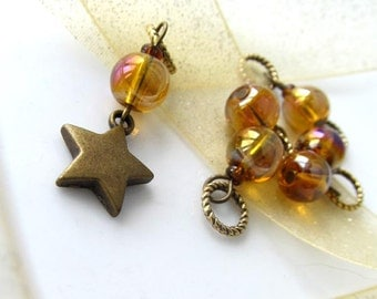 Last Set - SALE 10% OFF - Shine On - Six Handmade Stitch Markers - Fits Up To 5.0 mm (8 US) - Limited Edition