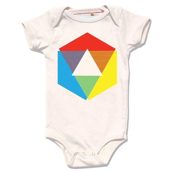 Organic Baby One Piece, organic baby bodysuit Color Wheel Onesie, organic rainbow infant baby. unisex baby shower gift, new baby clothing