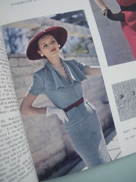 VOGUE Knitting Book No. 37 1950 Vintage Knitting Patterns