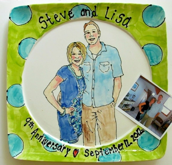 Custom listing- house portrait platter personalized Christmas gift hand painted from photo by Cathie Carlson