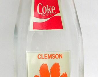 CLEMSON 1981 Upcycled Coke Bottle Slumped Spoon Rest