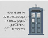 Doctor Who: Surprise Cross Stitch PATTERN