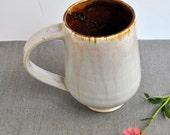 ceramic coffee cup coffee mug Beer Stein minimalist modern Grey Brown glazes
