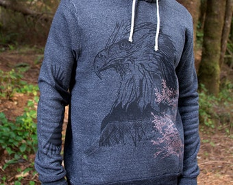 Eagle and Hawk Pullover Hoodie NOTE: this item is now navy blue