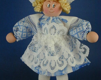 Dutch Girl Clothespin Ornament/ Peggy Spackman's Clothespin Doll/Delft Clothespin Dolls