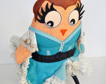 Plush art doll  - ''La Goulue'' French Cancan dancer from the Moulin Rouge in Paris - as seen in Stuffed magazine 2012- OOAK